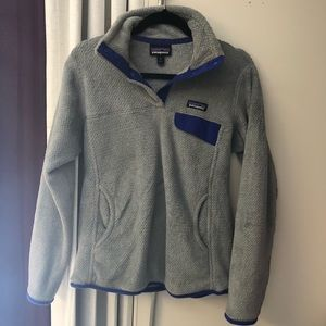 Grey Patagonia Snap T Pullover medium